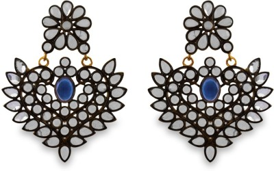 SuvidhaArts Fashion Diva Cubic Zirconia Metal Chandbali Earring