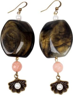 Carolz Jewelry Shell danglers Acrylic, Glass Dangle Earring