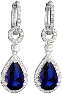 JDX Esteam Swarovski Crystal Silver Drop Earring