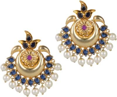 Mehtaphor Neysa_5 Crystal Brass Stud Earring