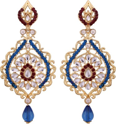 Vendee Fashion Embellished Design Alloy Drop Earring