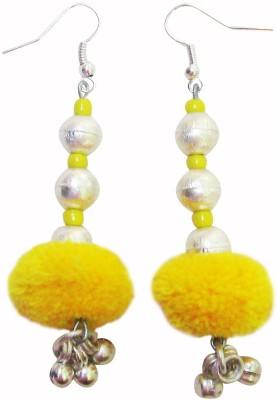 Juhi Malhotra Yellow And Silver Beauty Ceramic Dangle Earring
