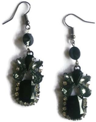 Oomph Black, White, Silver & Grey Crystal Fashion Jewellery Drop for Women, Girls & Ladies Metal Dangle Earring