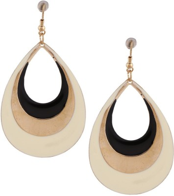 Gold & More 2 Toned Gold Alloy Drop Earring