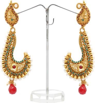 Kashvi SPRING SPARKLE Pearl, Agate Brass Huggie Earring