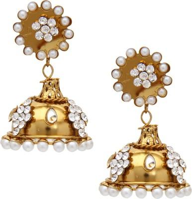 SB Fashions copper pearl diamond earring Brass Earring Set, Jhumki Earring