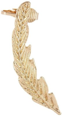 Fayon Weekend Party Golden Long Leave Alloy Cuff Earring