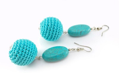 Saaheli Katarzyna Bodera Sandycraft Fabric Dangle Earring