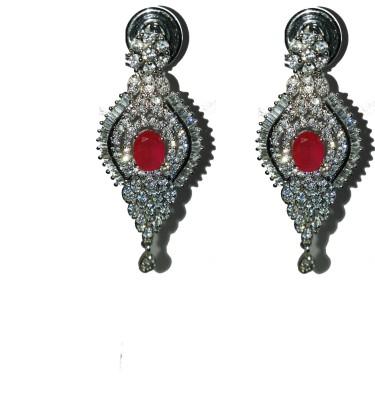 Rajgharana Sparkle Metal Chandbali Earring