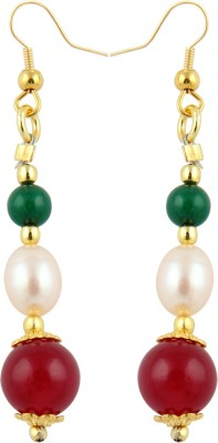 Pearlz Ocean Fascinate Pearl, Jade Alloy Dangle Earring