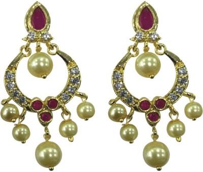 Sri Kapi Pearls FE124 Cubic Zirconia Alloy Chandbali Earring