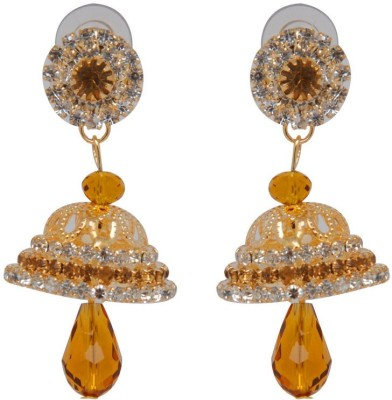 Jaipur Mart Indian Fashion Golden Beads Alloy Jhumki Earring