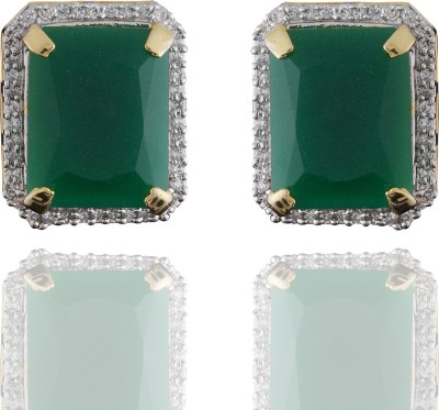Chaahat Fashion Jewellery Silmple Cubic Zirconia Copper Stud Earring