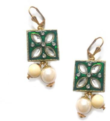 Abhika Jewels Enamel-istic Brass Clip-on Earring