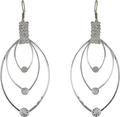 One Stop Fashion Elegant And Stylish Grey Colour Alloy Dangle Earring