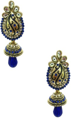 Taruni Lustrous Kundan Earrings Alloy Jhumki Earring
