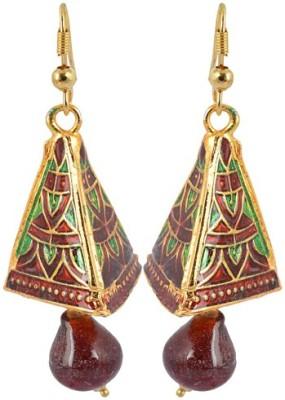 Waama Jewels Golden Brass Jhumki Earrings gift for dear women Girls Metal Jhumki Earring