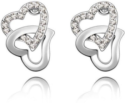Silver Shoppee Valentine Special Cubic Zirconia Alloy Stud Earring