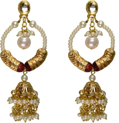 Rasaam 2 step jhumki long Beads Alloy Jhumki Earring