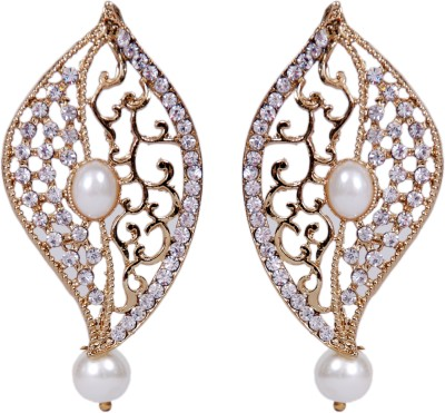 Grand Jewels NSE1005 Cubic Zirconia, Pearl Alloy Earring Set