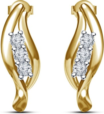 Vorra Fashion Latest Fashion Design Cubic Zirconia Sterling Silver Stud Earring