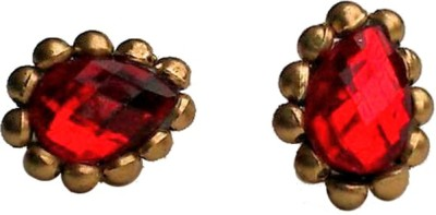 Make My Jhumkas The Royal Red Paper Stud Earring