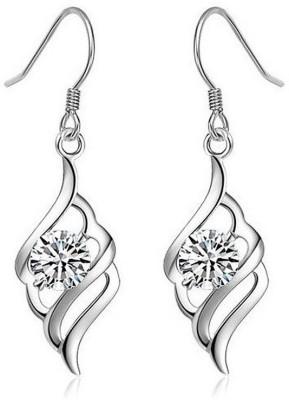 JDX Sparkle Swarovski Crystal Silver Dangle Earring
