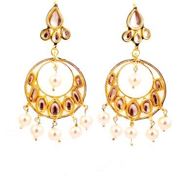 Ojas Jewels Alankrita Zircon Brass Chandbali Earring
