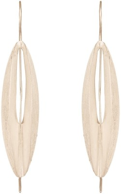 Mirror White Dome Drops Silver Drop Earring