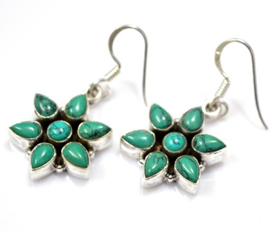 Anavaysilver Ear054 Turquoise Sterling Silver Dangle Earring