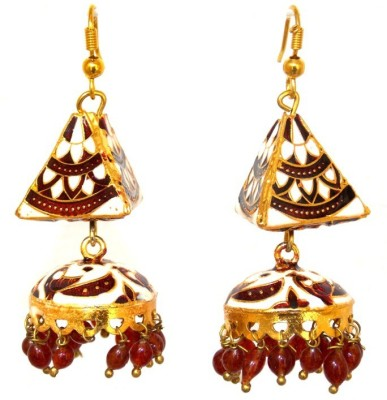 Red Gold JHUM_38 Metal Jhumki Earring