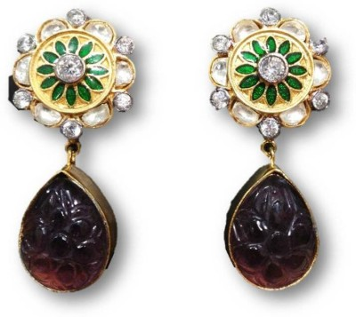 Rajgharana Kundan Kali Cubic Zirconia Alloy Drop Earring