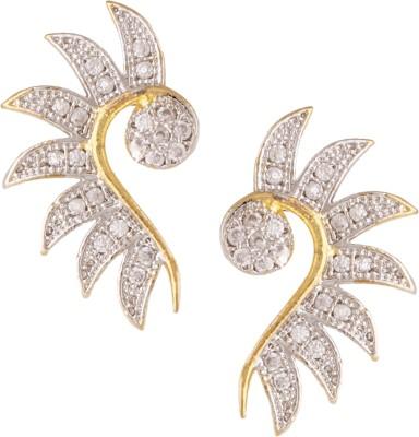 Fashionaya Nine Diamond Cubic Zirconia Alloy Cuff Earring