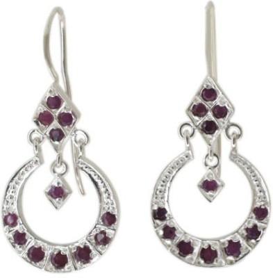 Aabhushan Aabhushajewels Garnet Sterling Silver Dangle Earring