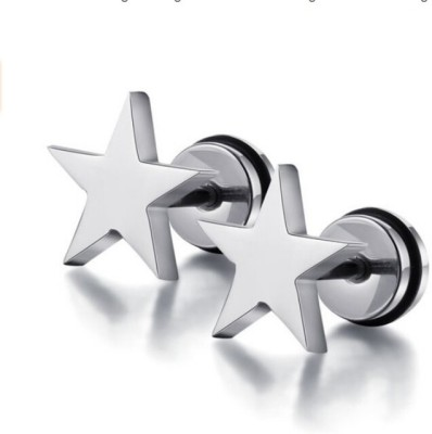 Magideal Five-pointed Star Steel Stud Earring