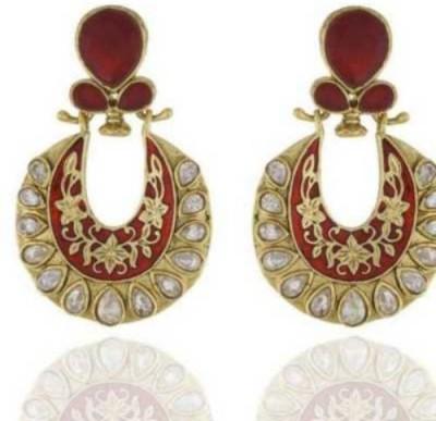 Happyshoppi Fashion Copper Brass, Copper Chandbali Earring