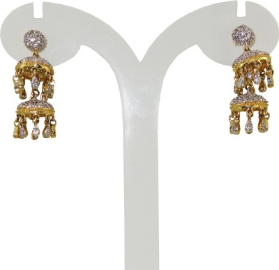 Anjan Good-Looking Traditional Cubic Zirconia Brass Jhumki Earring