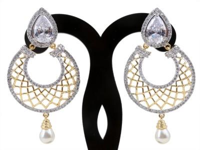 Craft And Jewel Dangler Cubic Zirconia Copper, Brass Dangle Earring