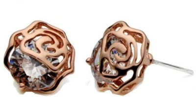 Roma Brothers Flower Swarovski Crystal Alloy Stud Earring