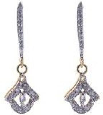 Diamond Diva CZ EARRING PAIR Cubic Zirconia Brass Dangle Earring