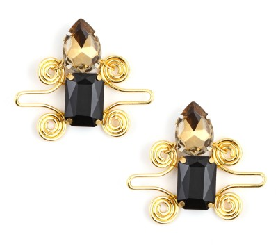 Zahra Jani Hand Crafted Earrings Brass Stud Earring