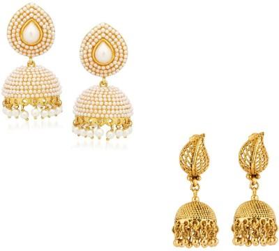 CTW Bollywood Inspired Elegant Combo Pack Brass Jhumki Earring