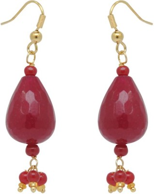 Jaipur Mart Red Tear Drop Shape Cheap Brass Drop Earring
