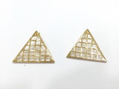 Arkina Diamonds Golden Studs Brass Stud Earring