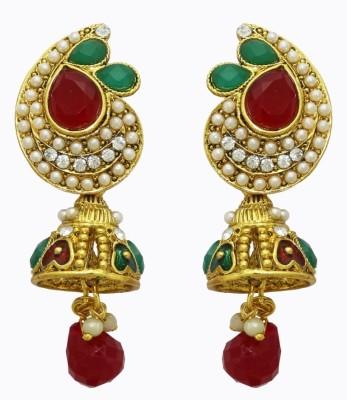 Aarnaa Gold Plated Traditional Alloy Jhumki Earring