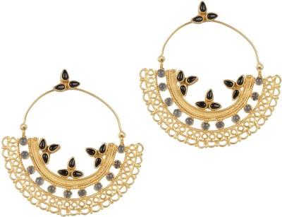 Mehtaphor Ojal Crystal Brass Chandbali Earring