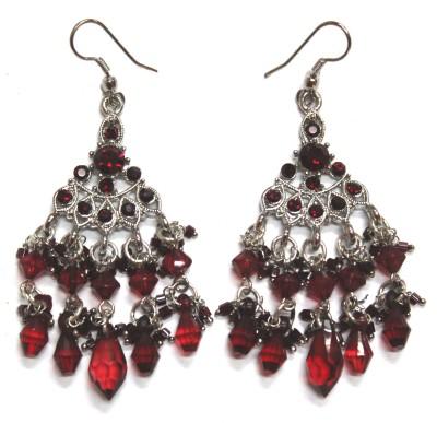 Fusion Jewels Sparkling Stones Jewellery Metal Dangle Earring