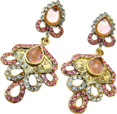 Store Utsav Pink Air Zircon Alloy Drop Earring