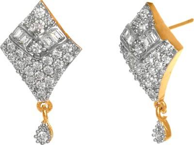 GemRoute Diva Diamond Zircon Alloy Drop Earring