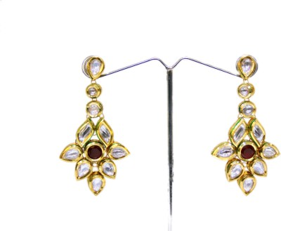 Bejeweled Zircon Copper Chandelier Earring